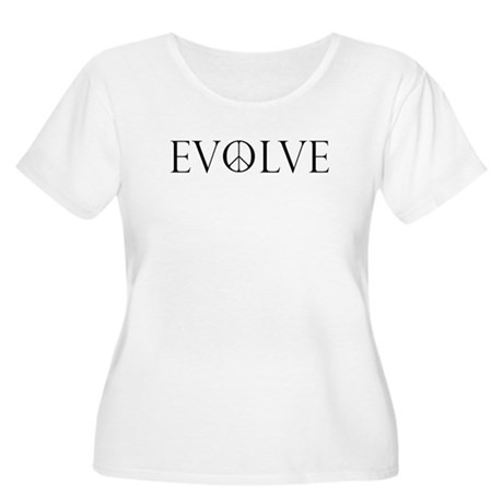 Evolve Peace Perpetua Women's Plus Size Scoop Neck T-Shirt