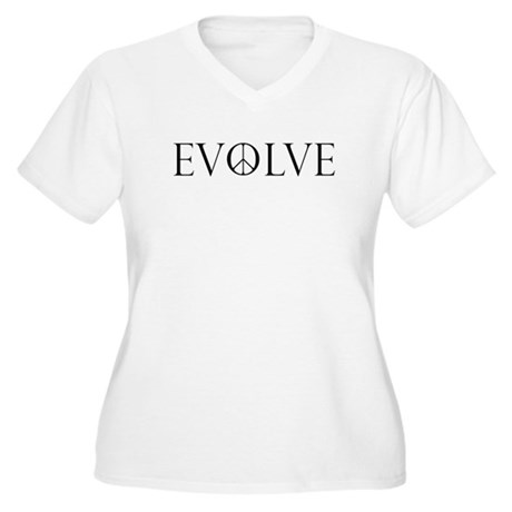 Evolve Peace Perpetua Women's Plus Size V-Neck T-Shirt