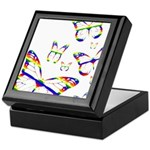 Rainbow Butterfly Keepsake Box