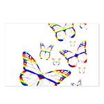Rainbow Butterfly Postcards (8)