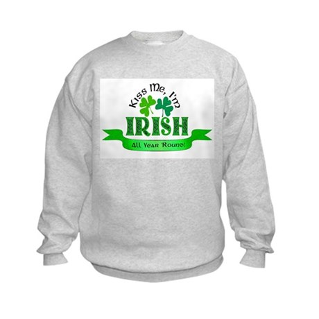 Kiss Me I'm Irish Kids Sweatshirt