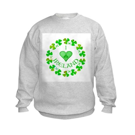 I Heart Ireland Kids Sweatshirt