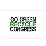 Go Green Recycle Congress Postcards (Package of 8)