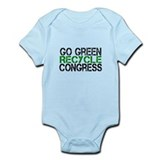 Go Green Recycle Congress Infant Bodysuit