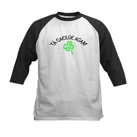 T Gaeilge Agam Kids Baseball Jersey
