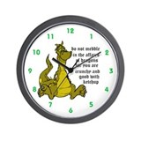 do not meddle Custom Wall Clock