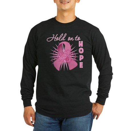 Breast Cancer Long Sleeve Dark T-Shirt
