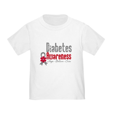 Diabetes Flower Toddler T-Shirt