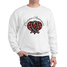 Diabetes Mosaic Ribbon Sweatshirt
