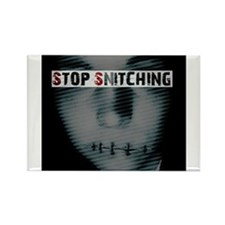 Cute Stop snitching Rectangle Magnet (100 pack)