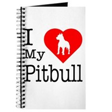 I Love My Pitbull Terrier Journal
