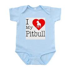 I Love My Pitbull Terrier Infant Bodysuit