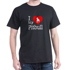 I Love My Pitbull Terrier T-Shirt
