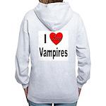 I Love Vampires (Back) Women's Zip Hoodie