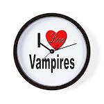 I Love Vampires Wall Clock