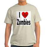I Love Zombies (Front) Light T-Shirt