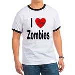 I Love Zombies (Front) Ringer T