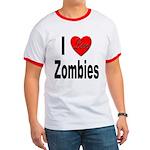 I Love Zombies Ringer T
