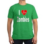 I Love Zombies (Front) Men's Fitted T-Shirt (dark)