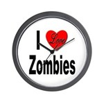 I Love Zombies Wall Clock