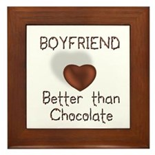 Boyfriend Better Than C Framed Tile