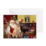 Santa's Lab (Y-lap) Greeting Cards (Pk of 20)