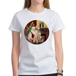 Santa's Lab (Y-lap) Women's T-Shirt