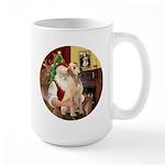 Santa's Lab (Y-lap) Large Mug
