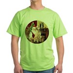 Santa's Lab (Y-lap) Green T-Shirt