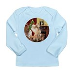 Santa's Lab (Y-lap) Long Sleeve Infant T-Shirt