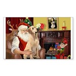Santa's Lab (Y-lap) Sticker (Rectangle 10 pk)