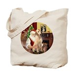 Santa's Lab (Y-lap) Tote Bag