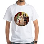 Santa's Lab (Y-lap) White T-Shirt