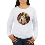 Santa's Lab (Y-lap) Women's Long Sleeve T-Shirt