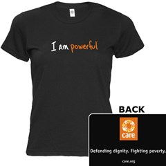 I Am Powerful Women's Black T-shirt