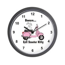 Evil Kitty PINK Wall Clock