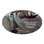 Manet Painting Color Quote Oval Sticker