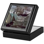 Manet Painting Color Quote Keepsake Box