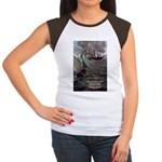 Manet Painting Color Quote Women's Cap Sleeve T-Sh