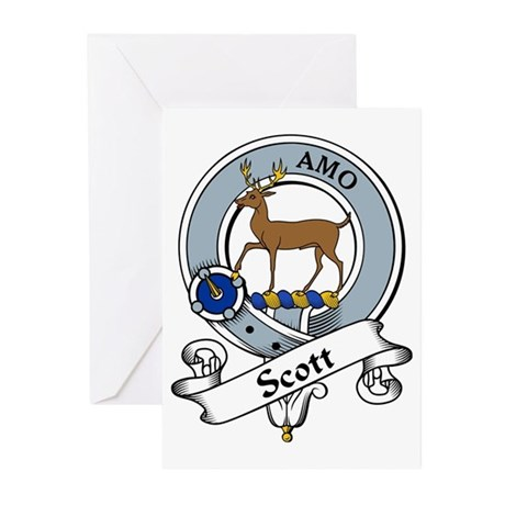 Scott Clan Badge Greeting Cards (Pk of 10)