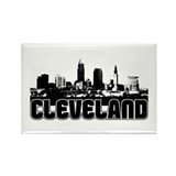 Cleveland Skyline Rectangle Magnet