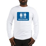 Rest Room Sign Long Sleeve T-Shirt