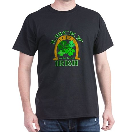 Lucky Irish Black T-Shirt