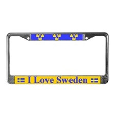 I Love Sweden License Plate Frame
