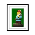 Woodcutter Gnome Framed Panel Print