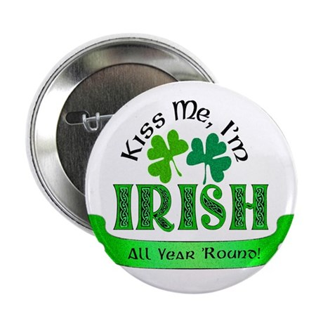 "Kiss Me I'm Irish 2.25"" Button (100 pack)"