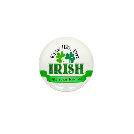 Kiss Me I'm Irish Mini Button (100 pack)