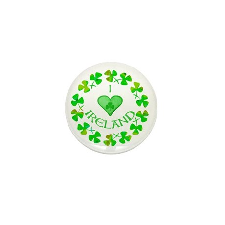 I Heart Ireland Mini Button (10 pack)