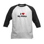 I Love My Kitty Kids Baseball Jersey