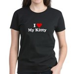 I Love My Kitty Women's Dark T-Shirt